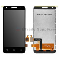 For Alcatel OneTouch Pixi 3 (4.5) 4027 LCD Screen and Digitizer Assembly Replacement - Black - Without Logo - Grade S+