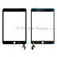 For Apple iPad Mini 3 Digitizer Touch Screen Assembly with IC Board Replacement (without Home Button) - Black - Grade S