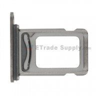 For Apple iPhone 12 Pro SIM Card Tray Replacement (Double SIM Card) - Gray - Grade S+