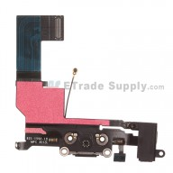 For Apple iPhone 5S Charging Port Flex Cable Ribbon Replacement - Black - Grade R