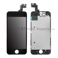 For Apple iPhone 5S LCD and Digitizer Assembly with Frame and Small Parts Replacement (without Home Button) - Black - Grade S+