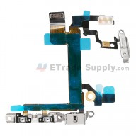 For Apple iPhone 5S Power Button Flex Cable Ribbon Assembly Replacement - Grade S+