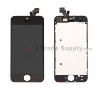 For Apple iPhone 5 LCD Screen and Digitizer Assembly with Frame Replacement - Black - Grade R