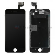 For Apple iPhone 6S LCD Screen and Digitizer Assembly with Frame and Small Parts (without Home Button) Replacement - Black - Grade S+