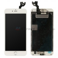 For Apple iPhone 6S Plus LCD Screen and Digitizer Assembly with Frame and Home Button Replacement - Silver - Grade S+