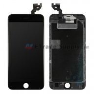 For Apple iPhone 6S Plus LCD Screen and Digitizer Assembly with Frame and Small Parts (without Home Button) Replacement - Black - Grade S