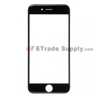 For Apple iPhone 6 Glass Lens with Frame Replacement - Black - Grade R
