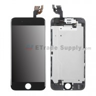 For Apple iPhone 6 LCD Digitizer Assembly with Frame and Small Parts Replacement (Without Home Button) - Black - Grade R