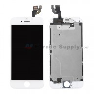 For Apple iPhone 6 LCD Digitizer Assembly with Frame and Small Parts Replacement (Without Home Button) - White - Grade R