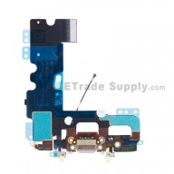For Apple iPhone 7 Charging Port Flex Cable Ribbon Replacement - White - Grade S+