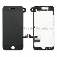 For Apple iPhone 7 LCD Screen and Digitizer Assembly with Frame and Small Parts Replacement (Without Home Button) - Black - Grade S