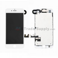 For Apple iPhone 7 LCD Screen and Digitizer Assembly with Frame and Small Parts Replacement (Without Home Button) - White - Grade S+