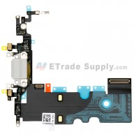 For Apple iPhone 8 Charging Port Flex Cable Ribbon Replacement - Light Gray - Grade S+