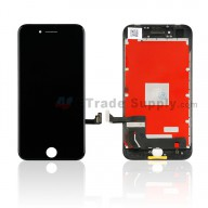 For Apple iPhone 8 LCD Screen and Digitizer Assembly with Frame Replacement - Black - Grade S+