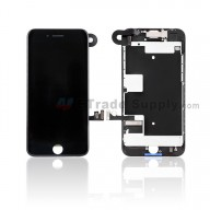 For Apple iPhone 8 LCD Assembly with Frame and Small Parts Replacement (No Home Button and With Auto Brightness Function) - Black - Grade S+