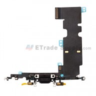 For Apple iPhone 8 Plus Charging Port Flex Cable Ribbon Replacement - Dark Gray - Grade S+