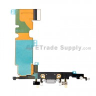 For Apple iPhone 8 Plus Charging Port Flex Cable Ribbon Replacement - Light Gray - Grade S+