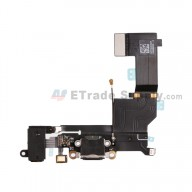 For Apple iPhone SE Charging Port Flex Cable Ribbon Replacement - Black - Grade R