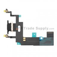 For Apple iPhone XR Charging Port Flex Cable Ribbon Replacement - Black - Grade S+