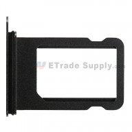 For Apple iPhone X Card Tray with Foam Gasket Replacement - Black - Grade S+