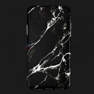 For Apple iPhone X Protective Case Replacement (Marble Black) - Grade R