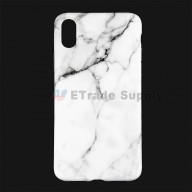For Apple iPhone X Protective Case Replacement (Marble White) - Grade R