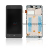 For BQ Aquaris U/U Lite LCD Screen and Digitizer Assembly with Front Housing Replacement - Black - Grade S+
