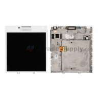 For BlackBerry Passport LCD Screen and Digitizer Assembly with Frame Replacement (03 Version) - White - With Logo - Grade S+