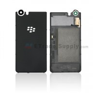 For Blackberry KEYone Battery Door with Rear Facing Camera Lens Replacement - Black - Without Logo - Grade S+