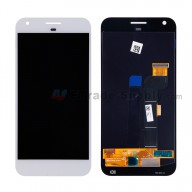 For HTC Google Pixel XL LCD Screen and Digitizer Assembly Replacement - White - Without Any Logo - Grade S+