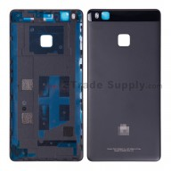 For Huawei P9 lite Battery Door Replacement - Black - With Logo - Grade S+