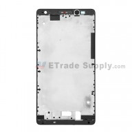For Huawei Mate 8 Front Housing Replacement - Black - Grade S+