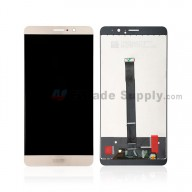 For Huawei Mate 9 LCD Screen and Digitizer Assembly Replacement - Gold - With Logo - Grade S+