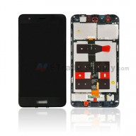 For Huawei Nova LCD Screen and Digitizer Assembly With Front Housing Replacement - Black - With Logo - Grade S+