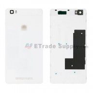 For Huawei P8lite Battery Door Replacement - White - With Logo - Grade S+