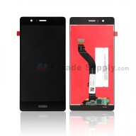 For Huawei P9 lite LCD Screen and Digitizer Assembly Replacement - Black - With Logo - Grade S+