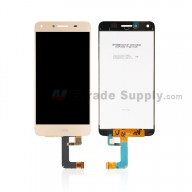 For Huawei Y5 II/Y6 II Compact LCD Screen and Digitizer Assembly Replacement - Gold - With Logo - Grade S+
