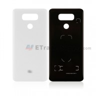 For LG G6 H871/H872/AS993/US997/LS993 Battery Door Replacement - White - With G6 Logo - Grade S+