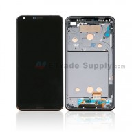 For LG G6 H871/H872/AS993/US997/LS993 LCD Screen and Digitizer Assembly with Front Housing Replacement - Black - With Logo - Grade S+