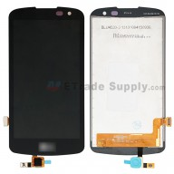 For LG K4 K121 LCD Screen and Digitizer Assembly Replacement - Black - With LG Logo - Grade S+