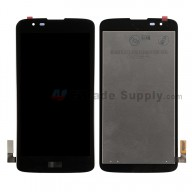 For LG K7 MS330/LS675 LCD Screen and Digitizer Assembly Replacement - Black - With Logo - Grade S+