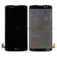 For LG K8 K350 LCD Screen and Digitizer Assembly Replacement - Black - With Logo - Grade S+