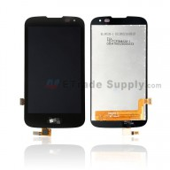 For LG LS450 LCD Screen and Digitizer Assembly Replacement - Black - With Logo - Grade S+