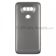 For LG G5 H840/H850 Rear Housing and Bottom Cover Replacement - Gray - With Logo - Grade S+