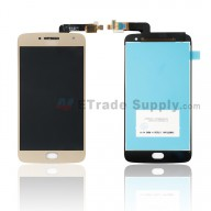 For Motorola G5 Plus LCD Screen and Digitizer Assembly Replacement - Gold - With Logo - Grade S+