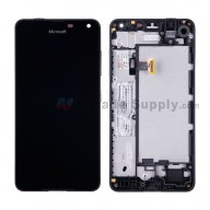 For Microsoft Lumia 650 LCD Screen and Digitizer Assembly with Front Housing Replacement - Black - With Logo - Grade S+