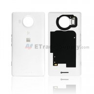 For Microsoft Lumia 950XL Battery Door Replacement - White - With Logo - Grade S+