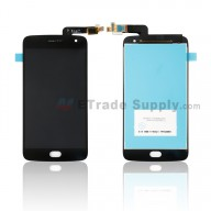 For Motorola G5 Plus LCD Screen and Digitizer Assembly Replacement - Black - With Logo - Grade S+