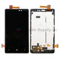 For Nokia Lumia 820 LCD Screen and Digitizer Assembly with Front Housing Replacement - With Logo - Grade S+