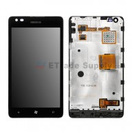 For Nokia Lumia 900 LCD Screen and Digitizer Assembly with Front Housing  Replacement - Without Carrier Logo - Grade S+